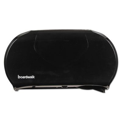 Boardwalk 1529 Twin Jumbo Roll Toilet Paper Dispenser, Black - 1 / Case