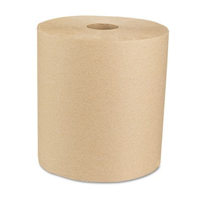 "Boardwalk 16GREEN Universal Hardwound Roll Paper Hand Towels, 8"" x 800', Brown - 6 / Case"