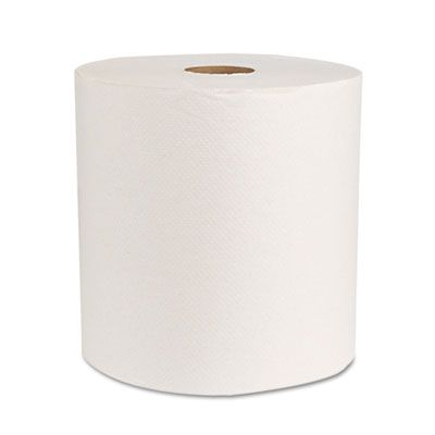 "Boardwalk 17GREEN Universal Hardwound Roll Paper Hand Towels, 8"" x 800', Natural White - 6 / Case"