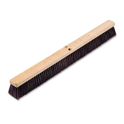 "Boardwalk 20336 Floor Brush / Broom Head with Maroon Stiff Polypropylene Bristles, 36"" Wide - 1 / Case"