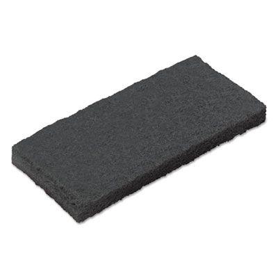 """Boardwalk 402 Utility Cleaning Pad, Medium Duty, 4-5/8"""" x 10"""", Blue - 20 / Case"""