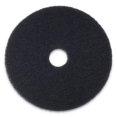 "Boardwalk 4020BLA Stripping Floor Pads, 20"" Diameter, Black - 5 / Case"