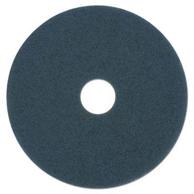 "Boardwalk 4020BLU Scrubbing Floor Pads, 20"" Diameter, Blue - 5 / Case"