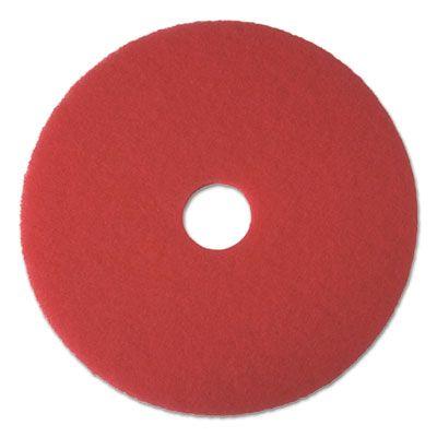 "Boardwalk 4020RED Buffing Floor Pads, 20"" Diameter, Red - 5 / Case"