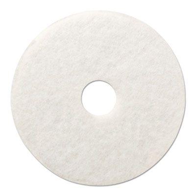 """Boardwalk 4020WHI Polishing Floor Pads, 20"""" Diameter, White - 5 / Case"""