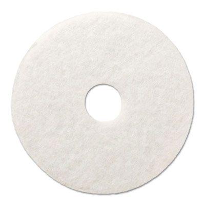 "Boardwalk 4024WHI 24"" Floor Polishing Pads, White - 5 / Case"
