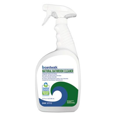 Boardwalk 47712 All-Natural Bathroom Cleaner, 32 oz Spray Bottle - 12 / Case