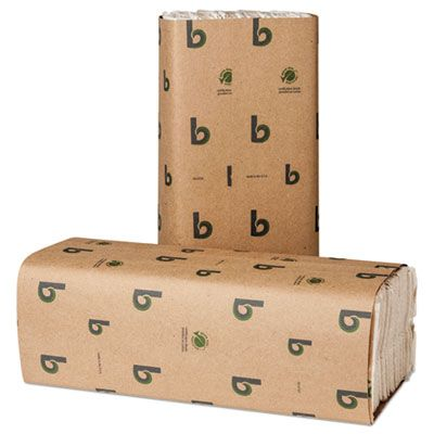 "Boardwalk 51GREEN C-Fold Paper Hand Towels, 10-1/8"" x 12-3/4"", White - 2400 / Case"