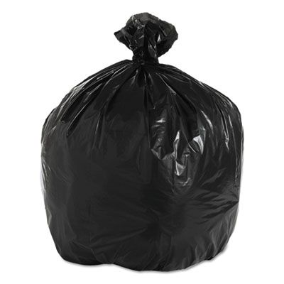 """Boardwalk 520 33 Gallon Trash Can Liners / Garbage Bags, 1.6 Mil Repro, 33"""" x 39"""", Black - 100 / Case"""