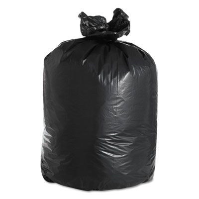 """Boardwalk 526 60 Gallon Trash Can Liners / Garbage Bags, 2 Mil Repro, 38"""" x 58"""", Black - 100 / Case"""