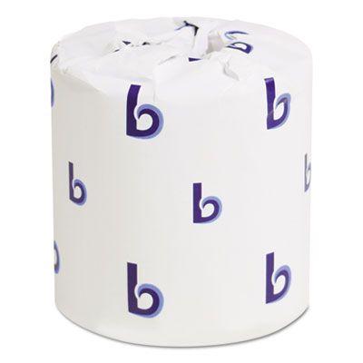 "Boardwalk 6145 Toilet Paper, 2 Ply, Invididually Wrapped, 4"" x 3"", 500 Sheets / Standard Roll - 96 / Case"