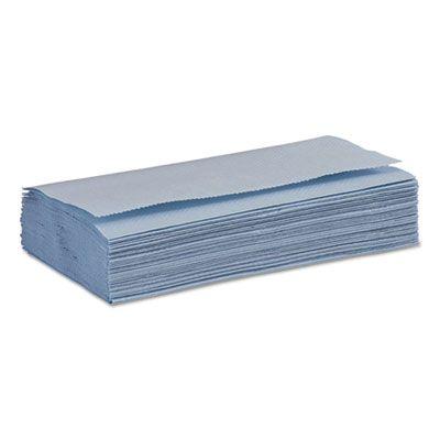 """Boardwalk 6191 Windshield Paper Towels, 9.125"""" x 10.25"""", Blue - 2250 / Case"""