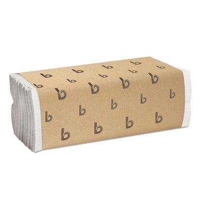"Boardwalk 6220 C-Fold Paper Hand Towels, 10"" x 10.25"", White - 2400 / Case"