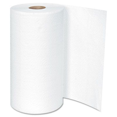 Boardwalk 6273 Big Roll Kitchen Paper Roll Towels, 2 Ply, 250 Perforated Sheets / Roll, White - 12 / Case