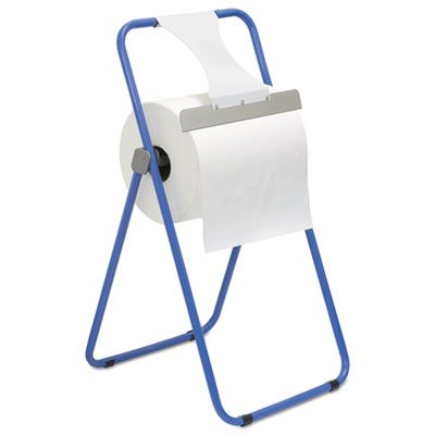 Boardwalk 680590 Dispenser for Jumbo Roll Paper Towels, Floor Stand, Steel, Blue - 1 / Case