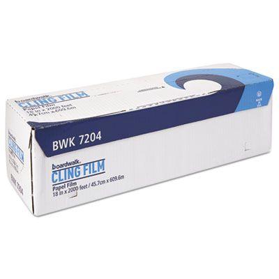 """Boardwalk 7204 Foodservice Film Roll, Standard, 18"""" x 2000', Clear - 1 / Case"""