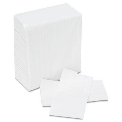 "Boardwalk 8302W Tallfold Paper Dispenser Napkins, 1 Ply, 12"" x 7"", White - 10000 / Case"