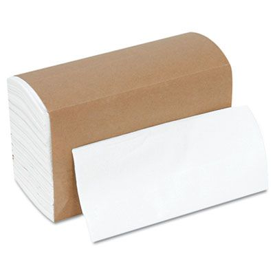 "Boardwalk 8307W Paper Dinner Napkins, 1 Ply, 17"" x 17"", White - 3000 / Case"
