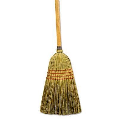 "Boardwalk 920Y Maid Broom, Mixed Fibers, 55"", Natural - 12 / Case"