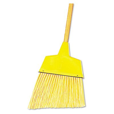"Boardwalk 932A Angler Broom, Angled Plastic, 53"", Yellow - 12 / Case"