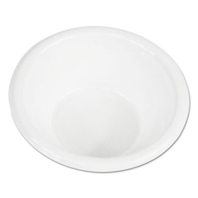 Boardwalk BOWLHIPS6WH 6 oz Plastic Bowls, High Impact, White - 1000 / Case