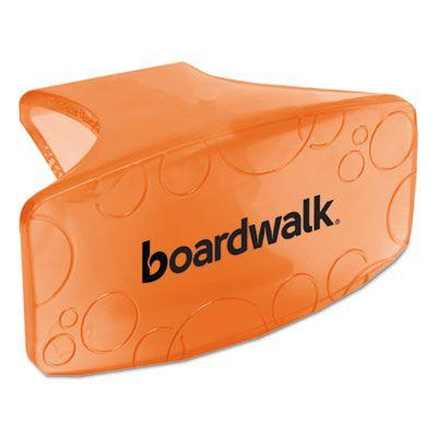 Boardwalk CLIPMAN Toilet Bowl Air Freshener Clips, Mango Scent, Orange - 12 / Case