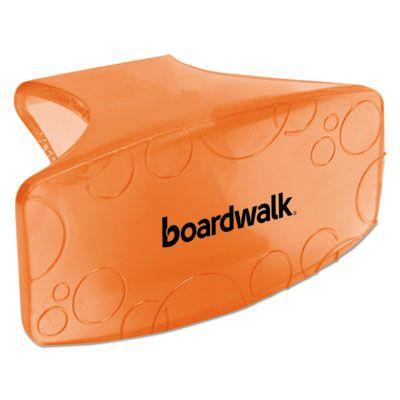 Boardwalk CLIPMAN Toilet Bowl Air Freshener Clips, Mango Scent, Orange - 72 / Case