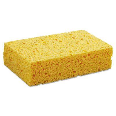 "Boardwalk CS2 Kitchen Sponge, Cellulose, 3-2/3"" x 6-2/25"", Yellow - 24 / Case"