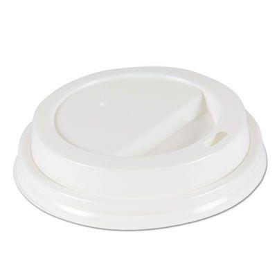 Boardwalk DEERHLIDW Lid for Deerfield 10-20 oz Paper Hot Cups, White - 1000 / Case