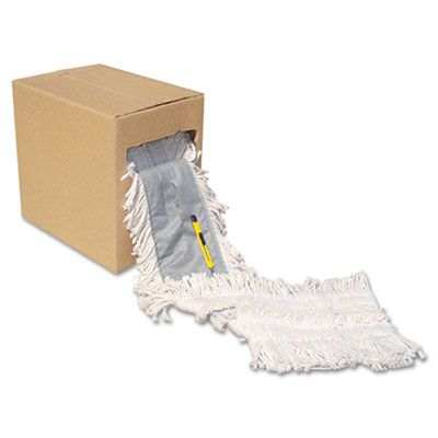 """Boardwalk FF40 Flash Forty Disposable Dust Mop Head Roll, Cotton, 5"""" x 40', Natural - 1 / Case"""