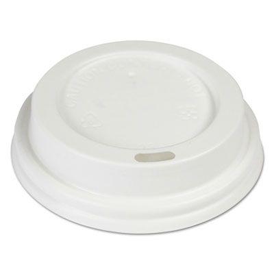 Boardwalk HOTWH8 Plastic Dome Lid for Boardwalk 8 oz Hot Cups, White - 1000 / Case