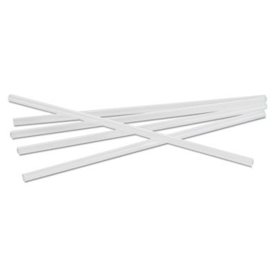 "Boardwalk JSTU775T50 7.75"" Plastic Jumbo Straws, Unwrapped, Translucent - 12500 / Case"