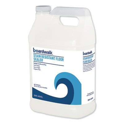 Boardwalk 4404SL Floor Sealer, Stain Resistant, 1 Gallon Bottle - 4 / Case