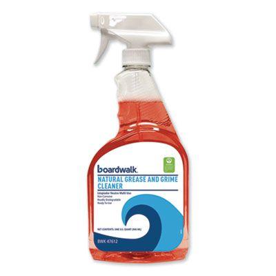 Boardwalk 47612 Natural Grease and Grime Cleaner, 32 oz Spray Bottle - 12 / Case