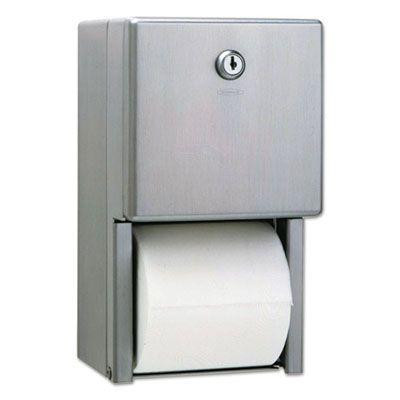 Bobrick 2888 Stainless Steel 2-Roll Standard Toilet Paper Dispenser - 1 / Case