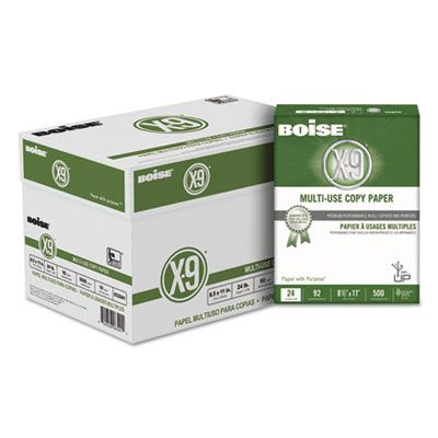 "Boise Cascade CC2241 X-9 Multi-Use Copy Paper, 24 Lb, 8-1/2"" x 11"" Sheets, White - 5000 / Case"