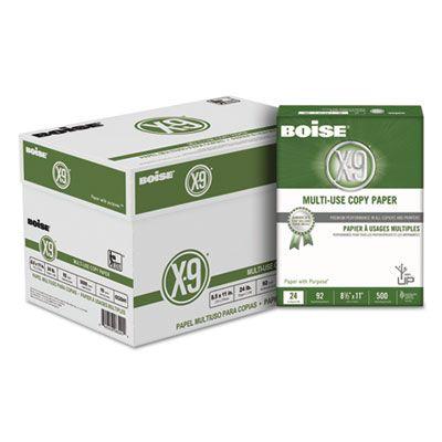 "Boise Cascade CC2241 X-9 Multi-Use Copy Paper, 24 Lb, 8-1/2"" x 11"" Sheets, White - 5000 / Case"