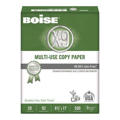 """Boise Cascade OX9001 X-9 Multi-Use Copy Paper, 92 Bright, 20 Lb, 8-1/2"""" x 11"""" Sheets, White - 5000 / Case"""