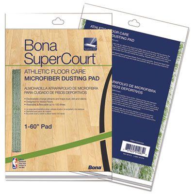"Bona AX0003500 SuperCourt Athletic Floor Care Microfiber Dusting Pad, 60"", Green - 1 / Case"