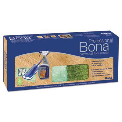"Bona WM710013398 Hardwood Floor Care Mop Kit, 15"" Head, 52"" Handle, Blue - 1 / Case"