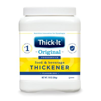 Kent Precision Foods J588-H5800 Thick-It Original Food and Beverage Thickener Powder, 10 oz Canister, Unflavored - 12 / Case