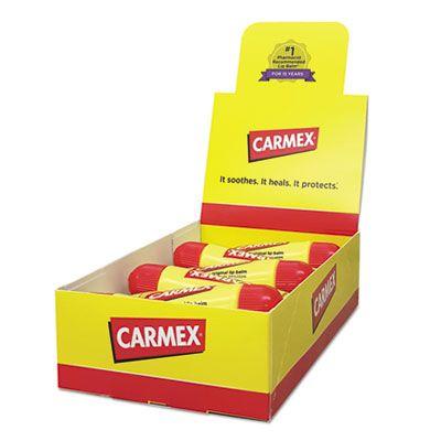 Carmex Original Moisturizing Lip Balm, Original Flavor, 0.35 oz Tube - 12 / Case (11313)