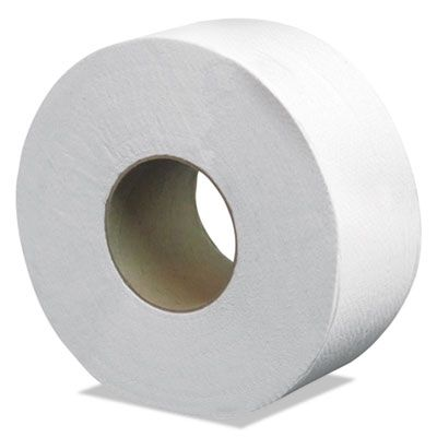 """Cascades B080 Jumbo Roll Toilet Paper, 2 Ply, Recycled, 8.85"""" x 500', 3.3"""" Core - 12 / Case"""