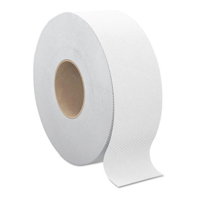 "Cascades B145 Select Jumbo Roll Toilet Paper, 2 Ply, 9"" x 1000', 3.3"" Core, White - 12 / Case"