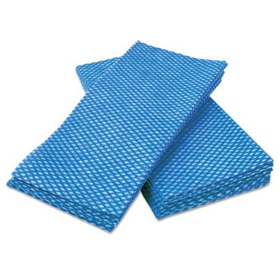 "Cascades W902 Tuff Job Durable Foodservice Towels, 12"" x 24"", Blue / White - 200 / Case"