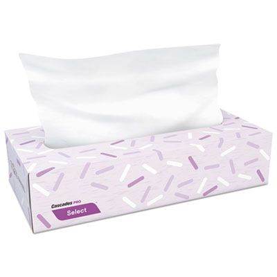 Cascades F150 Select 2 Ply Facial Tissue, 100 Sheets / Flat Box - 30 / Case