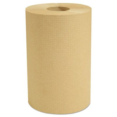"Cascades H235 Select Hardwound Paper Hand Towel Roll, 7-7/8"" x 350', Brown - 12 / Case"