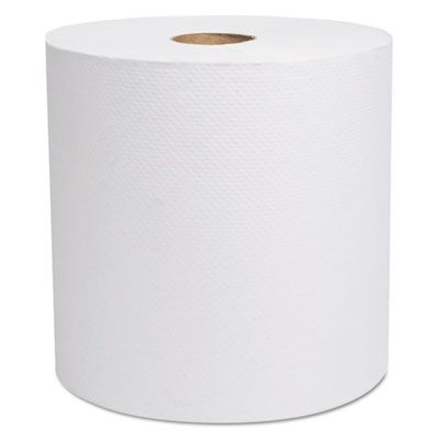 """Cascades H280 Select Hardwound Roll Paper Hand Towels, 1 Ply, Recycled, 7-7/8"""" x 800', White - 6 / Case"""