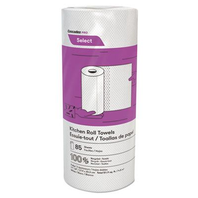Cascades K085 Select Kitchen Roll Paper Towels, 2 Ply, 85 Sheets / Roll, White - 30 / Case