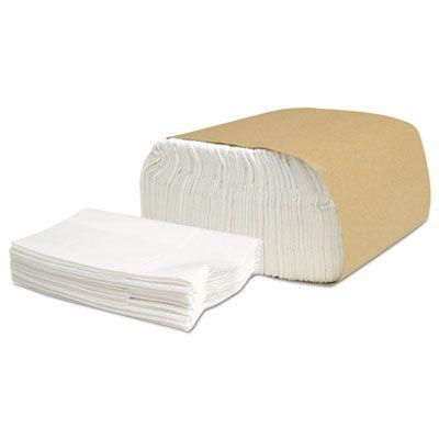 "Cascades N130 Select Low Fold III Paper Dispenser Napkin Refills, 1 Ply, 5-1/2"" x 12"", White - 7992 / Case"